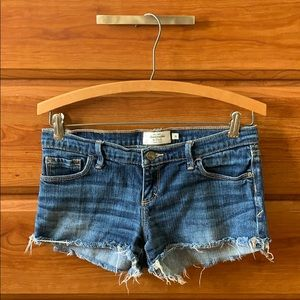 Abercrombie & Fitch Blue Denim Shorts